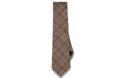Brown Roads Wool Skinny Tie