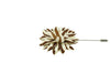 Brown White Stripes Lapel Flower