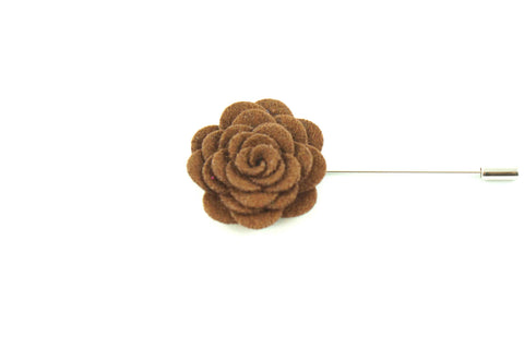 Brown Wool Lapel Flower