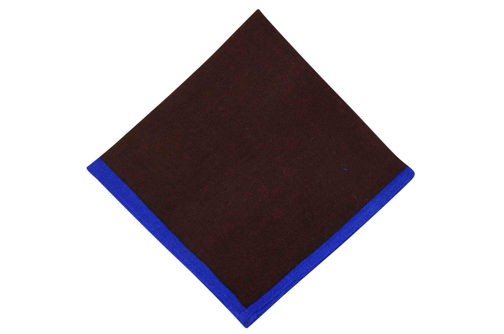 Burgundy Blue Wool Pocket Square