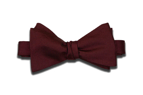 Wine Purple Herringbone Silk Bow Tie (Self-Tie)