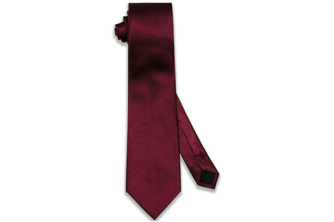 Burgundy Herringbone Silk Tie