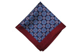 Burgundy Pain Silk Pocket Square