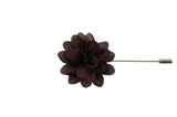 Burgundy Petal Lapel Flower