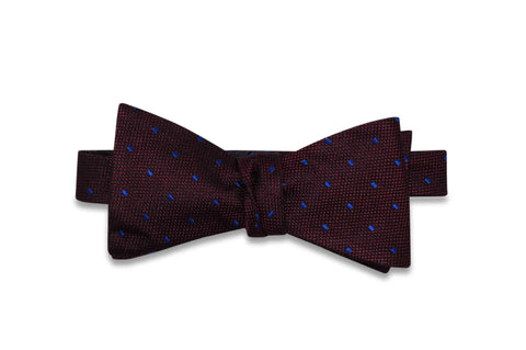 Burgundy Rain Silk Bow Tie (self-tie)
