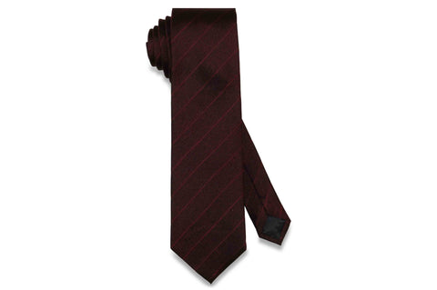 Burgundy Stripes Silk Tie