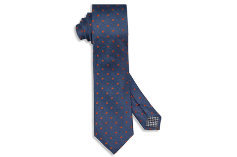 Burning Dots Silk Tie