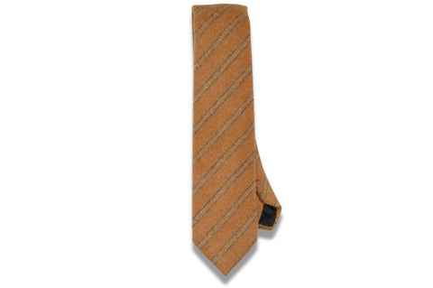 Camel Brown Wool Skinny Tie