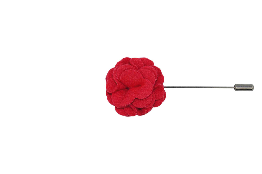 Candy Apple Felt Lapel Flower