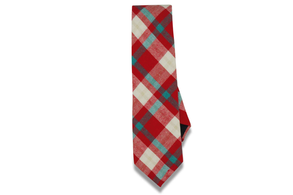 Candy Plaid Cotton Tie