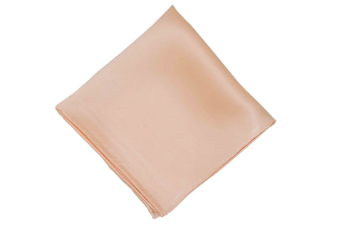Blush Silk Pocket Square