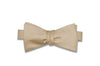 Champagne Herringbone Silk Bow Tie (Self-Tie)