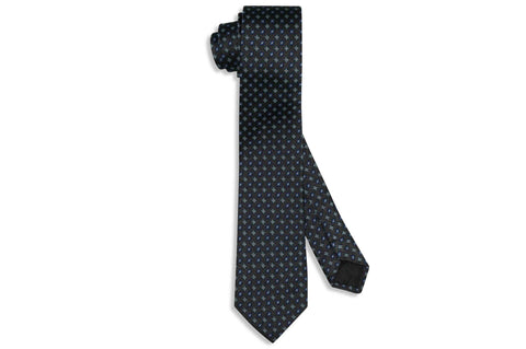 Charcoal Night Silk Skinny Tie