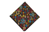 Chocolate Blossom Cotton Pocket Square