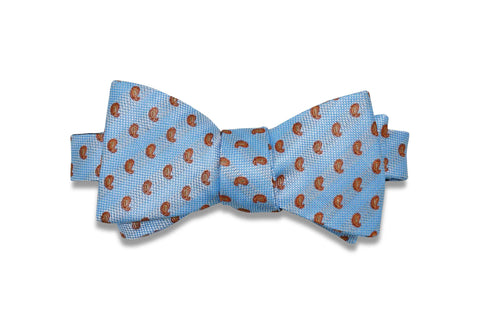 Chocolate Mini Paisley Silk Bow Tie (self-tie)