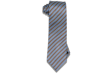 Chocolate Sky Silk Tie