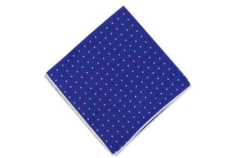 Classic Blue Diamond Silk Pocket Square