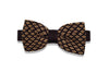 Classy Brown Knitted Bow Tie (pre-tied)