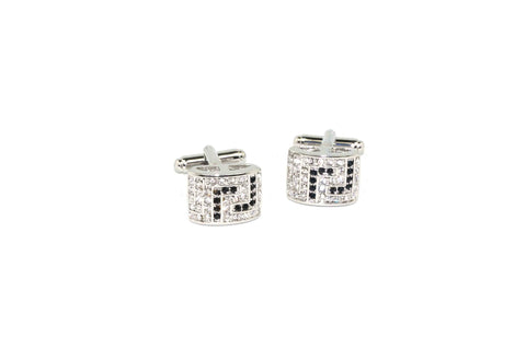Clear Black Lines Cufflinks