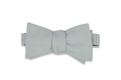Cloud Grey Bow Tie (Self-Tie)