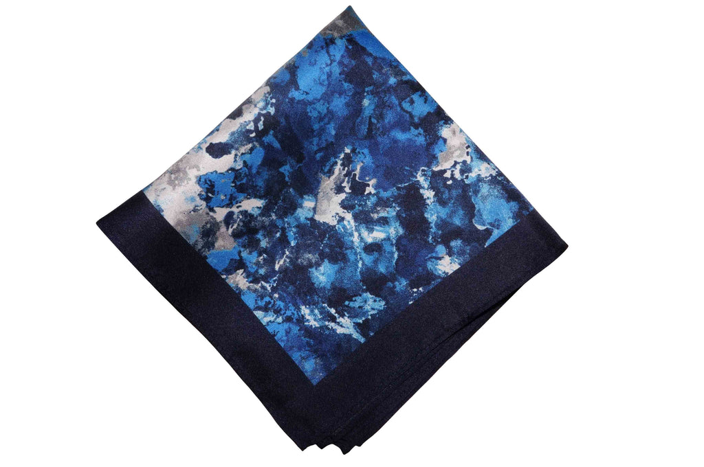 Cloud Wave Silk Pocket Square