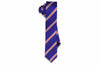 College Orange Stripes Silk Skinny Tie