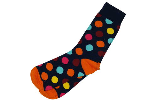 Colored Dots Men's Socks