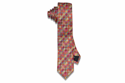 Colour Crazed Silk Skinny Tie