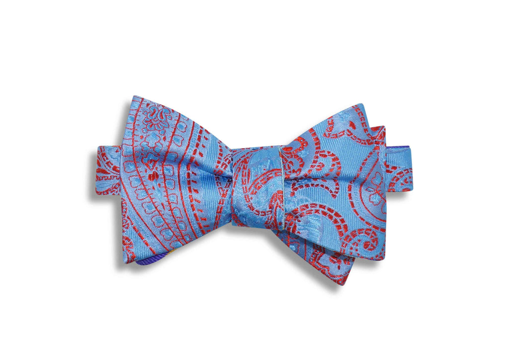 Coloured Stripes Silk Bow Tie (self-tie)