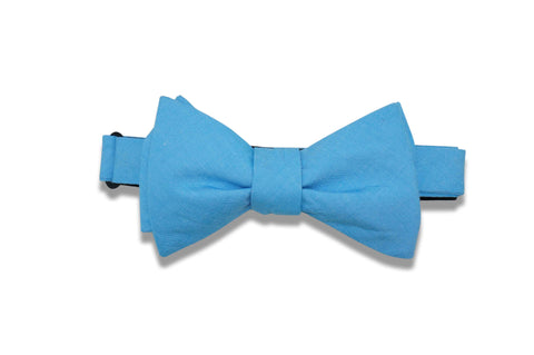 Columbia Blue Cotton Bow Tie (self-tie)