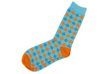 Connected Orange Blue Socks
