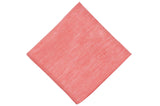 Coral Textured Linen Pocket Square