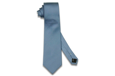 Cornflowers Blue Herringbone Silk Tie
