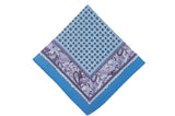 Court Blue Cotton Pocket Square