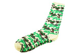 Cream Green Camo Men's Socks