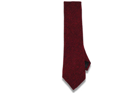 Crimson Red Wool Skinny Tie