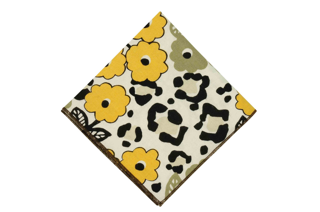 Daisy Field Cotton Pocket Square