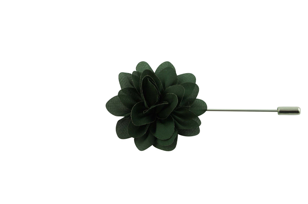 Dark Green Petal Lapel Flower