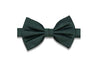 Dark Green Grained Silk Bow Tie (Pre-Tied)