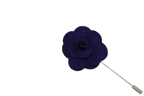 Dark Purple Lapel Flower