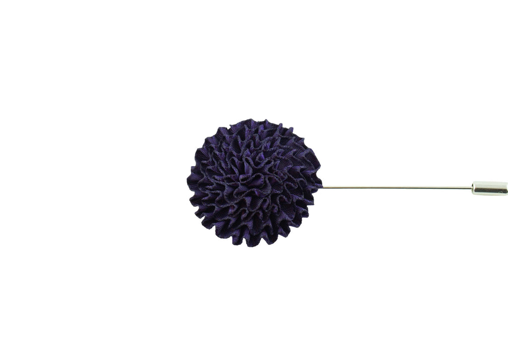 Dark Purple Round Lapel Flower