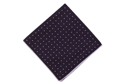 Dark Violet Diamond Silk Pocket Square