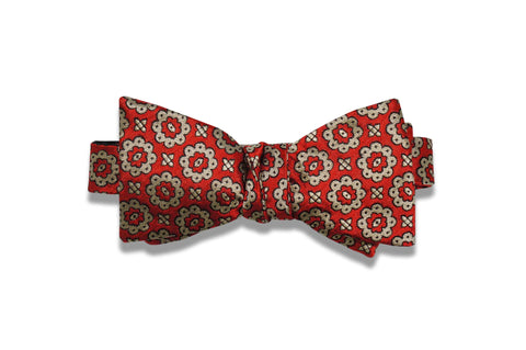 Dazed Red Silk Bow Tie (self-tie)