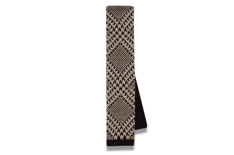 Diamond Brown Knitted Skinny Tie