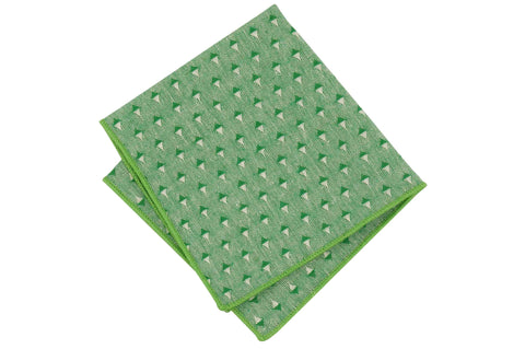Diamond Green Cotton Pocket Square