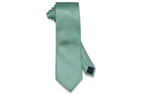 Dotted Green Silk Tie