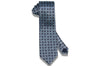 Double Blue Paisley Silk Tie