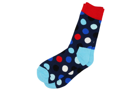 Double Blue Polka Dot Men's Socks