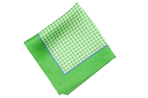 Double Green Silk Pocket Square