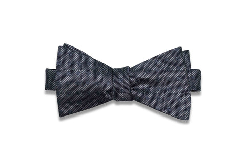 Double Grey Dots Silk Bow Tie (self-tie)